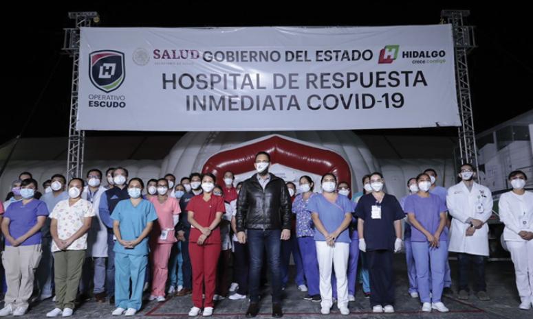 Ningún trabajador de salud infectado por Covid 19 dentro del Hospital Inflable: Fayad