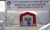 Falso que Hospital Inflable de Pachuca cerrará por baja en contagios de Covid: SSH